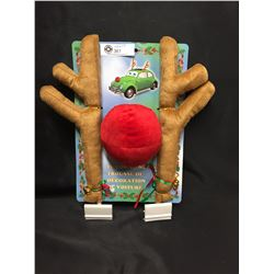Christmas Car Decoration Kit  Reindeer Antlers and a Red Nose