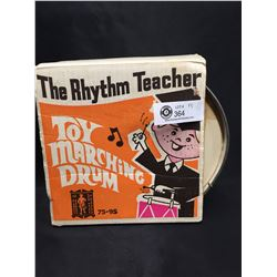 """Vintage in The Box, 1970's """" The Rhythm Teacher"""" Toy Marching Drum. Has Been Played With"""