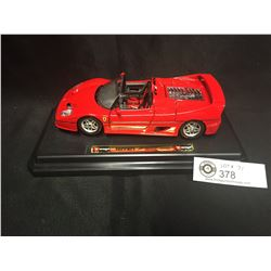 Ferrari F-50 Die Cast Car on Stand. In Very Good Shape