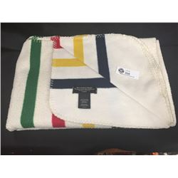 """Hudon's Bay Throw Cover with Original Tag. 49"""" W x 71"""" Long"""