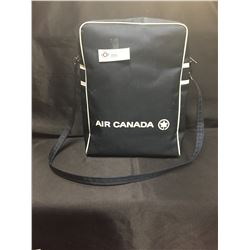 """Retro Air Canada Shoulder Carry On Vinyl Bag in Great Shape. No rips, No damage 10"""" x 14"""" x 5"""""""