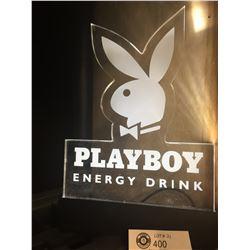"Playboy Energy Drink Light Up Sign. 12"" x 8.5"""