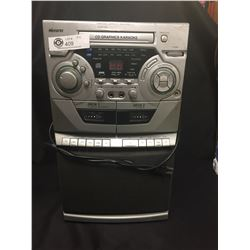 Memorex Karaoke Machine in Working Order. With CD Player and AM/FM Raadio. Missing Microphone