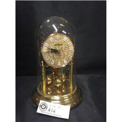 German Anniversary Glass Dome Clock in Good Shape. Needs a Key.