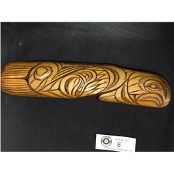 Nicely Carved Native Salmon. Carved By Stan Joseph Squamish Nation. BC