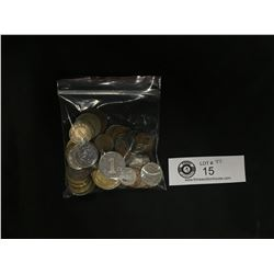 Small Bag of Vintage World Coins
