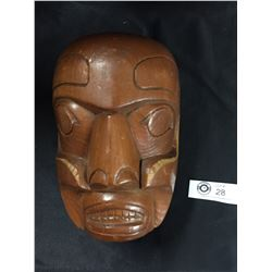 "Nicely Made Native Mask. Signed WJ 7"" Tall x 5"" W"