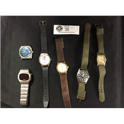 A Good Lot of Quality Vintage Watches. All Automatic Watches Work, 2 Battery ones need Batteries
