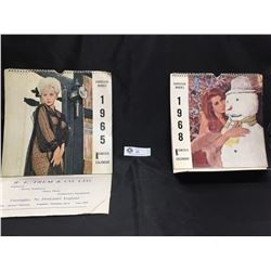 1965 and 1968 Harrison Marks Nude/Pinup Calendars.