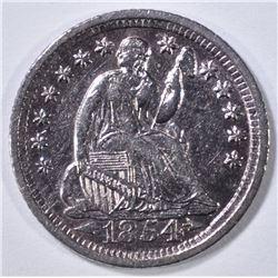 1854-O ARROWS SEATED LIBERTY HALF DIME AU