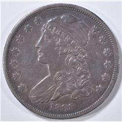 1838 BUST QUARTER AU