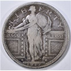 1917 TYPE 1 STANDING LIBERTY QUARTER FINE