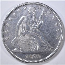 1870 SEATED LIBERTY HALF DOLLAR AU