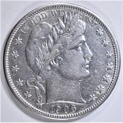 1906-D BARBER HALF DOLLAR AU