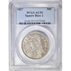 1827 BUST HALF DOLLAR PCGS AU-55