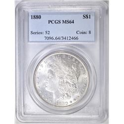 1880 MORGAN DOLLAR PCGS MS-64