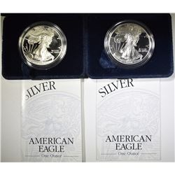 2-1998 PROOF AMERICAN SILVER EAGLES
