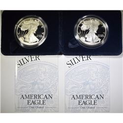 2-1999 PROOF AMERICAN SILVER EAGLES