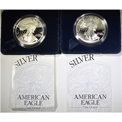 2-2000 PROOF AMERICAN SILVER EAGLES