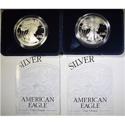 2002 & 03 PROOF AMERICAN SILVER EAGLES
