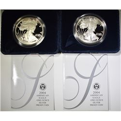 2-2004 PROOF AMERICAN SILVER EAGLES