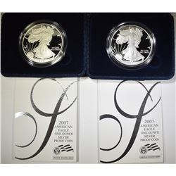 2-2007 PROOF AMERICAN SILVER EAGLES