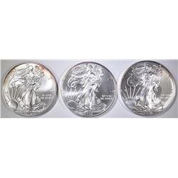 2-2010 & 1-11 BU AMERICAN SILVER EAGLES