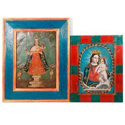Two Mexican retablos
