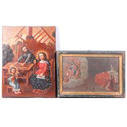 Two Latin American retablos
