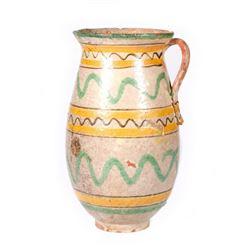 Spanish ceramic pitcher