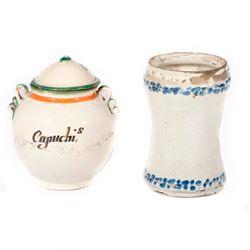 Two Mexican talavera jars