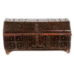 A Spanish Colonial trunk.