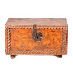 Spanish Colonial wood coffer