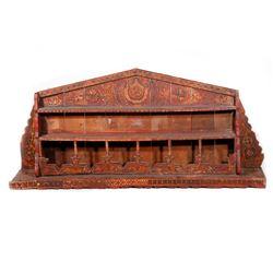 Moroccan wood shelf