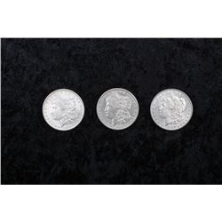 19MA-1,2,3 MORGAN DOLLARS