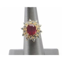 19RPS-34 RUBY & DIAMOND RING