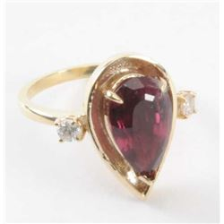 19RPS-1 TOURMALINE & DIAMOND RING