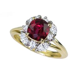 19CAI-7 RUBY & DIAMOND RING