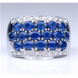 19CAI-9 SAPPHIRE & DIAMOND RING
