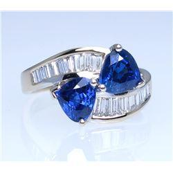 19CAI-14 SAPPHIRE & DIAMOND RING