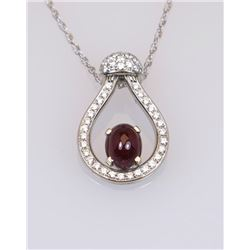 19CAI-4 RUBY & DIAMOND PENDANT