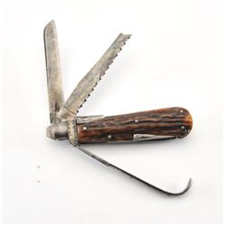 JXM-19A BROWN POCKET KNIFE