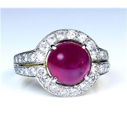 19CAI-10 RUBY & DIAMOND RING