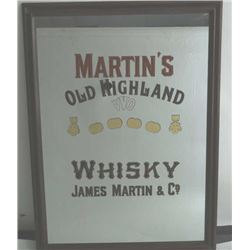 19OS-102 MARTIN'S OLD HIGHLAND WHISKY MIRROR