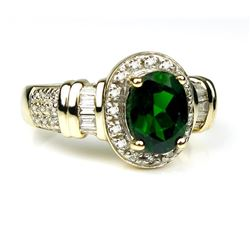 19CAI-68 TOURMALINE & DIAMOND RING