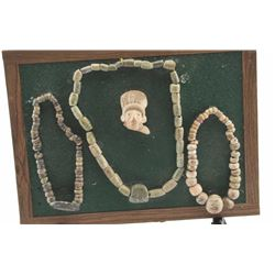 19PX-7 3 STONE OR JADE NECKLACES