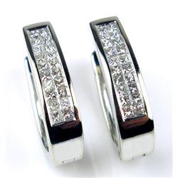 19CAI-57 DIAMOND LOOP EARRLING