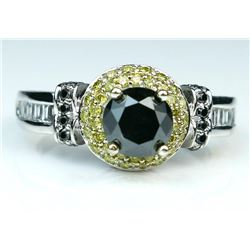 19CAI-53 BLACK & WHITE DIAMOND RING