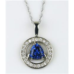 19CAI-26 TANZANITE & DIAMOND PENDANT