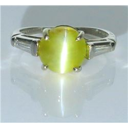 19CAI-34 CHRYSOBERYL CAT'S EYE RING